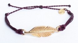Gold Feather Burgundy